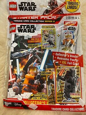 FULL BOX LEGO STAR WARS TRADING CARD COLLECTION SERIES 2-25 PACKET BUNDLE