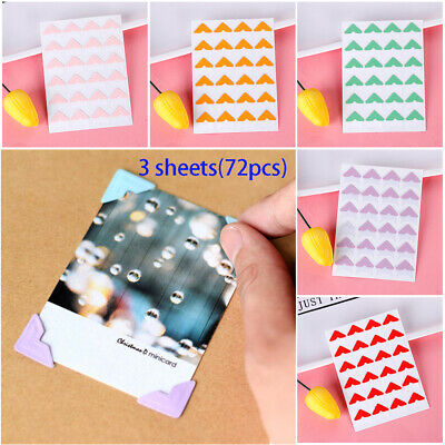 DIY Handmade Photo Corner Protectors Album Scrapbooking Picture Frame Stickers