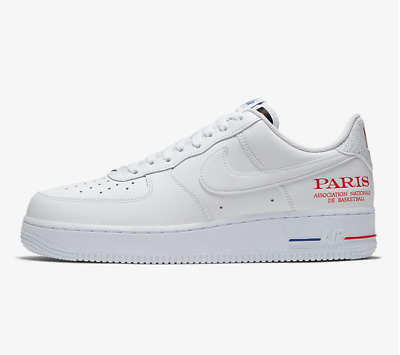 NIKE AIR FORCE 1 '07 LV8 NBA Paris Sneaker Weiß EU 40 US 7
