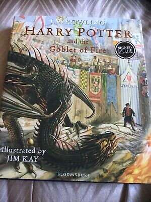 Harry Potter & The Goblet Of Fire RARE Signed First Edition Book by Jim Kay