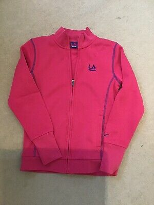 LA Gear Girls Aged 9-10 Pink Zip Up Long Sleeved Sweat Top