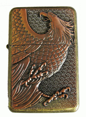 Personalised Engraved Copper Eagle Star Refillable Petrol Lighter Birthday Gift7