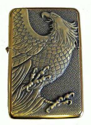 Personalised Engraved Gold Eagle Star Refillable Petrol Lighter Birthday Gift 8