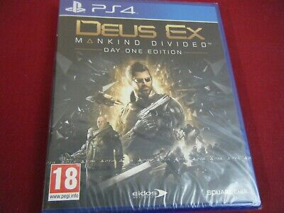 New And Sealed Deus Ex Mankind Divided Playstation 4 Game
