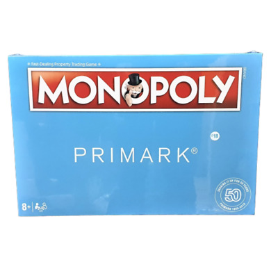 Primark Monopoly Board Game 50 Year Anniversary Edition OFFICIAL HASBRO Games