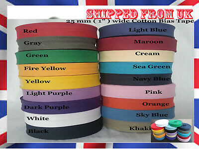 """1/"""" Best Quality Mauve Bias Binding Tape 25mm wide 5 meters 100/% cotton"""