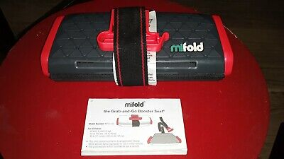 Mifold Grab and Go Car Booster Seat Slate Gray