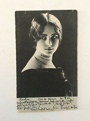 Early 20Th Century (1904?) Cleo De Merode Beauty & Actress Publicity Photo