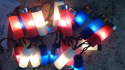 red white and blue shotgun shell lights 20 lights
