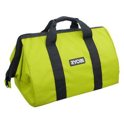 """WHOLESALE 10 Ryobi Contractors Canvas Green Wide-Mouth Larger Tool Bag 18x14x12/"""""""