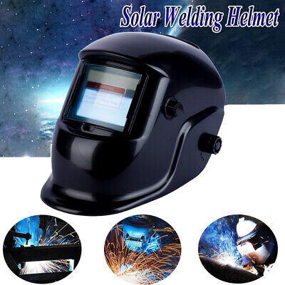 Solar Power Auto Darkening Welding Helmet For UV/IR Arc Mig Grinding Welder
