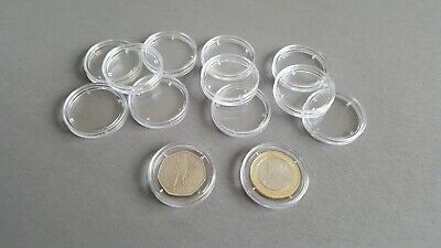 28mm Coin Capsules Pack of 10 Two Pound 50p Olympic £2 Fifty Pence Coins Storage