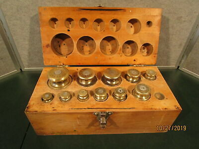 11 OHaus Paint Scale Weights with Wooden Case