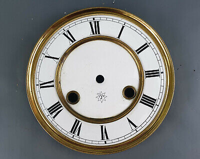 Junghans Old Original Signed Enamel Dial For Wall Clock