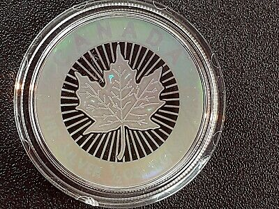 """2003 Canadian """"Maple Leaf"""" $4 Hologram Pure Silver Coin"""