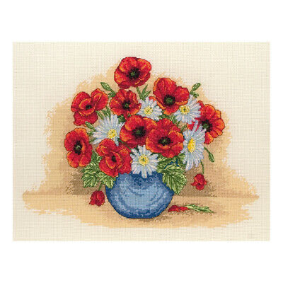 ANCHOR | Counted Cross Stitch Kit: Poppy Spray - Wall Hanging | PCE879