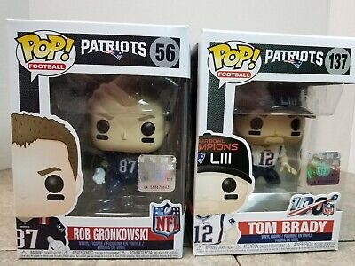 Funko POP! Brady & Gronkowski • Patriots 137 & 56  Super Bowl LIII & Color Rush