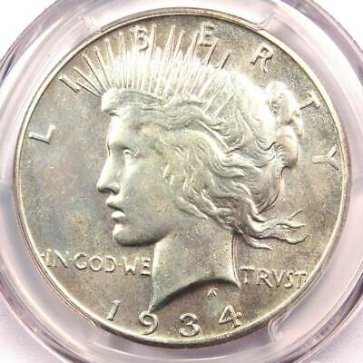 1934-S Peace Silver Dollar $1 Coin - Certified PCGS AU Details - Rare Date in AU