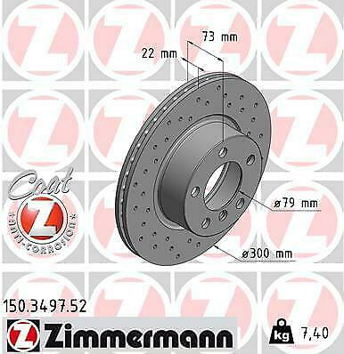 2 unidades Sport-disco de freno COAT Z-carpintero 100.3326.52 Disco de freno
