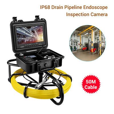 9Inch 164ft Pipe Drain Pipeline Inspection System φ23mm Sewer Camera Video 8GB