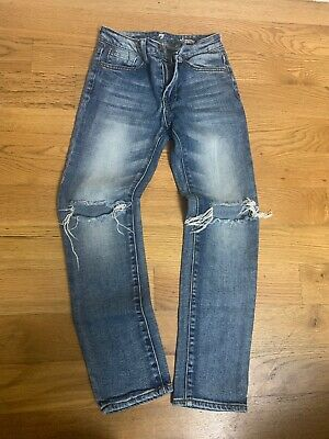 Boys 7 For All Mankind Bootcut Distressed Jeans Size 10