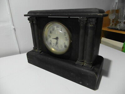 Antique Sessions Mantle Clock 1890's Brass fittings parts or repair Made in USA