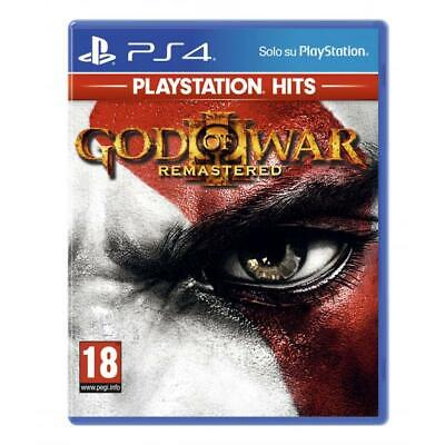 PS4 God of War 3 Remastered- PS Hits Videogame Sony Play Station 4 gioco nuovo
