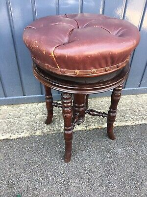 Victorian Revolving Walnut Piano Stool