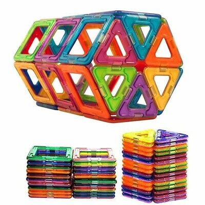 50/100Pcs Magnetic Building Blocks Construction Educational Kids Magic Toy Gift