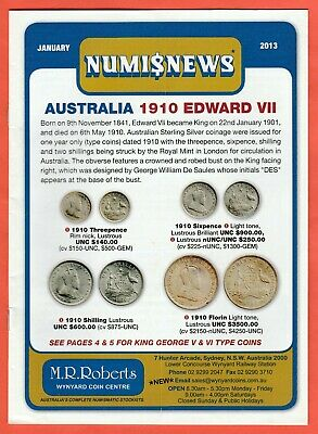2013 Numisnews Booklets M R Roberts All 12 Monthly Issues