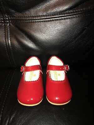 🌸 Baby Girls ANDANINES spanish Romany Glossy Shoes Size 20 Eur / 4 Infant