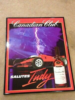RARE ViTG Canadian Club Salutes Indy Blended Canadian Whisky Racing Bar Sign