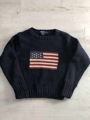 Ralph Lauren Polo Knitted American Flag Kids Boys Jumper Age 6