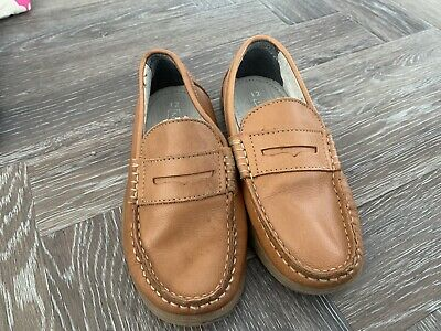 Boys Next Size 12 Brown Tan Loafers