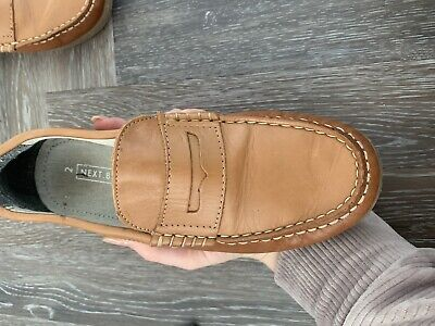 Next Boys Loafers Size 2 Shoes Brown Tan