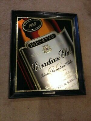RARE ViTG Canadian Club Legacy of a Leader Since 1958 Blended Whisky Bar Sign