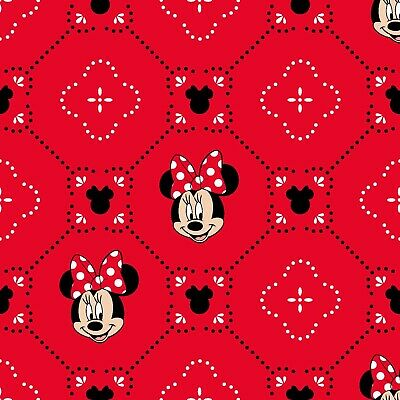Disney Minnie Mouse Fabric Little Meadow fat 1//4s 100/% cotton Licenced 85270403