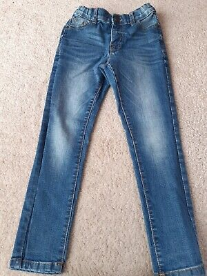 Boys Marks and Spencer Blue Denim Jeans, Age 5-6 Years, Skinny fit, *VGC*