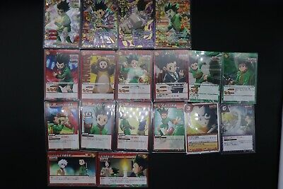 Hunter X Hunter Miracle Battle Carddass Gon Cars Set of 18 from Japan