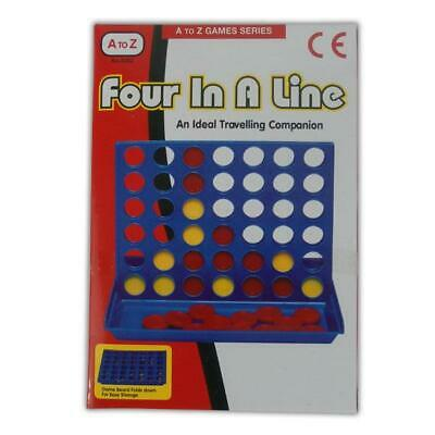 Four in a Line - Row Board Game Family 4 Connect Travelling Toy Mini Holiday