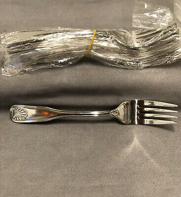 World Tableware 685 038 COQUILLE 18/0 Stainless Salad Fork - SET OF 6