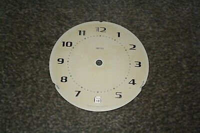 "Vintage Smiths 5"" small mantel clock dial/face for spares/repairs/parts"