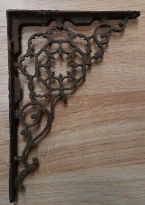 Vtg 1800's Antique Victorian Cast Iron Fancy Ornate Shelf Bracket SINGLE Piece