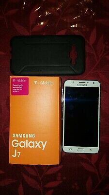 Samsung Galaxy J7 SM-J700 - 16GB - White (T-Mobile) Smartphone used Excellent.