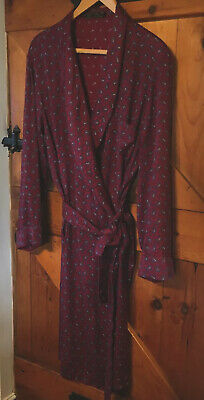 """Vintage """"TOOTAL"""" Dark Red Paisley Dressing Gown / Smoking Jacket size Large"""