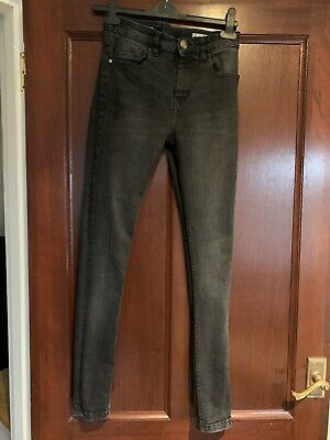 Boys Jeans Black Faded Super Skinny Next Aged 12