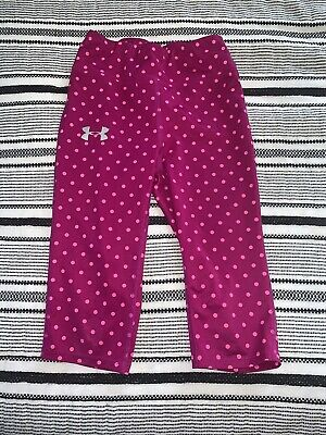 Girls Size Small (S) UNDER ARMOUR Purple Pink Cropped Athletic Leggings