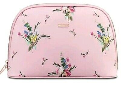 Ted Baker Make Up Wash Bag Cosmetic Travel Case Toiletry Bag Pink Floral
