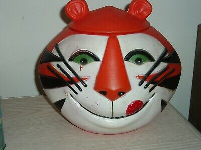 Vintage 1968 TONY THE TIGER Kelloggs Plastic CEREAL Container w/ top