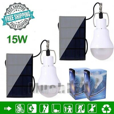 5xPortable Bulb Outdoor Indoor Solar Powered Panel LED Lighting System Light 15W